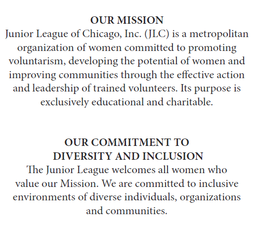 Junior League of Chicago Mission